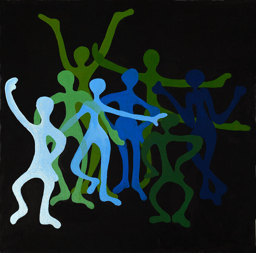 Abstract Painting - Happy Dancers by Michelle Wiarda