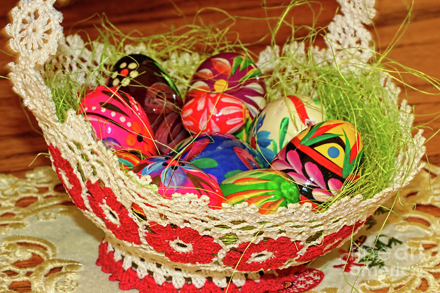 Happy Photograph - Happy Easter Basket by Mariola Bitner