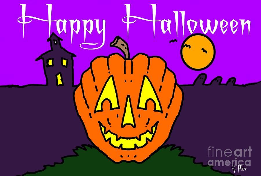 Happy Painting - Happy Halloween 2 by George Pedro
