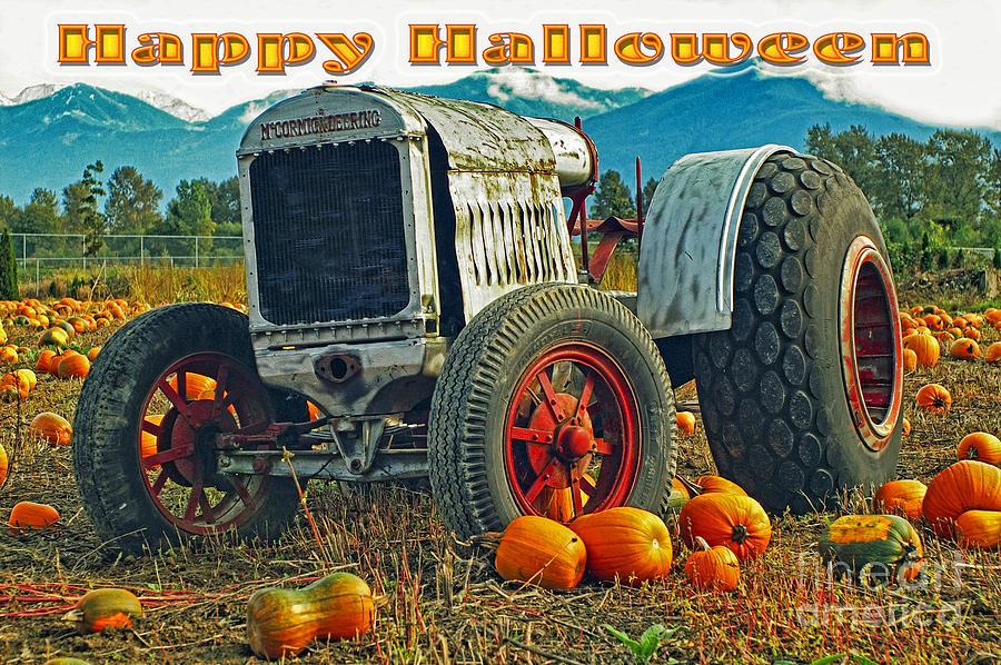 Tractors Photograph - Happy Halloween Card by Randy Harris