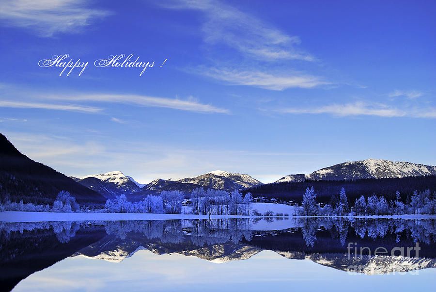 Winter Photograph - Happy Holidays by Sabine Jacobs