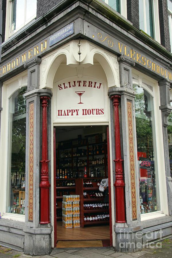 Happy Hour Photograph - Happy Hours Liquor Store by Sophie Vigneault