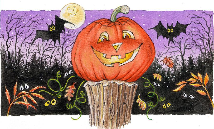 Halloween Painting - Happy Jack by Richard De Wolfe