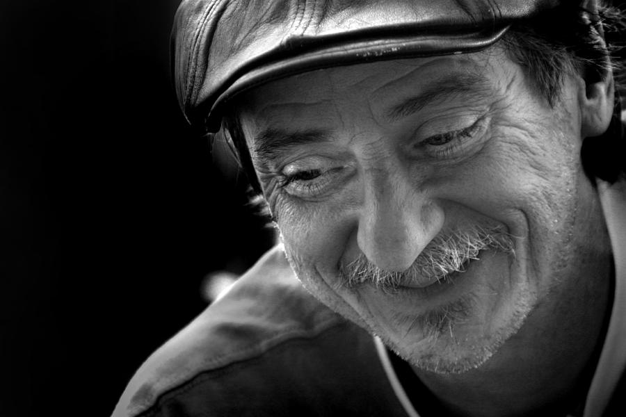 Age Photograph - Happy Man by Kelly Hazel