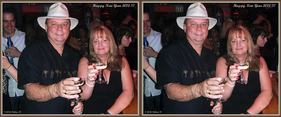 Brian Wallace Photograph - Happy New Year - Gently Cross Your Eyes And Focus On The Middle Image That Appears by Brian Wallace