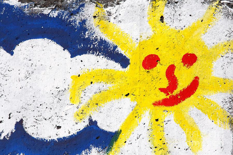 Happy Photograph - Happy Sun Face by Gaspar Avila