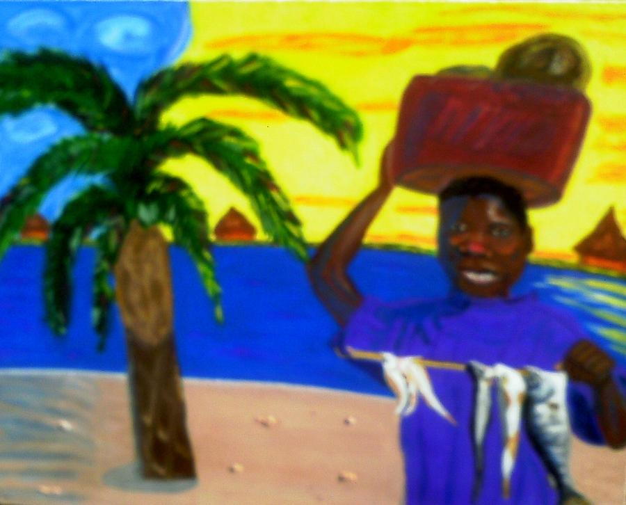 Happy With His Catch Painting by Annette Stovall