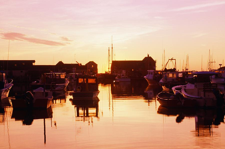 Attractions Photograph - Harbor At Sunrise by Bilderbuch