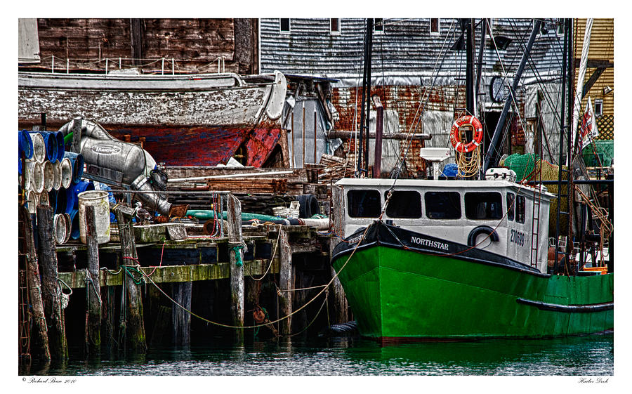 Architecture Photograph - Harbor Dock by Richard Bean