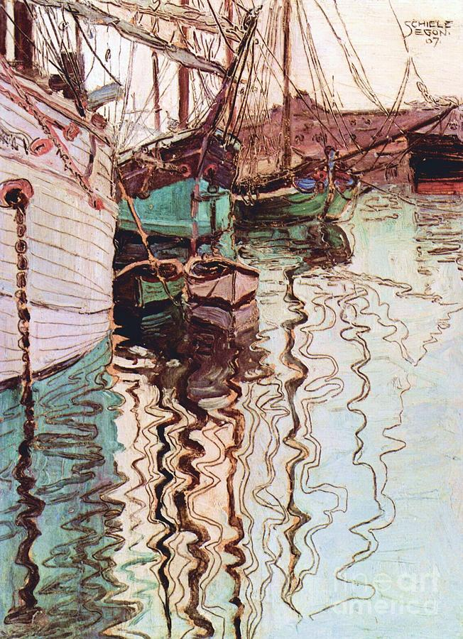 Pd Painting - Harbor Of Trieste by Pg Reproductions