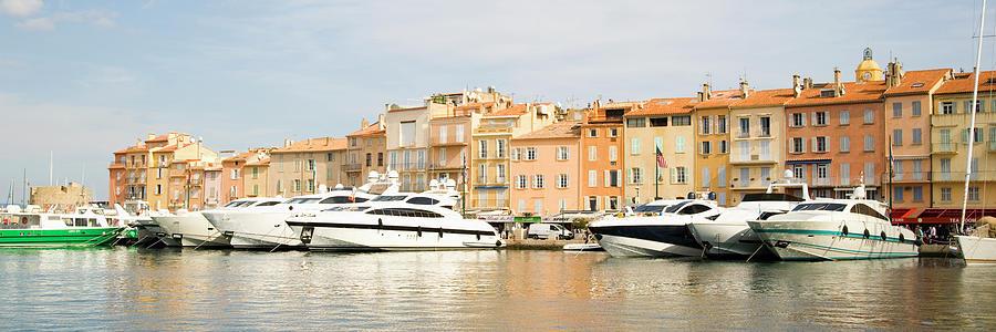 Horizontal Photograph - Harbour, St. Tropez, Cote Dazur, France by John Harper