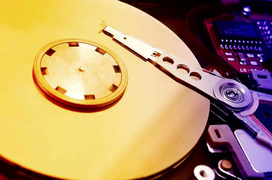 Macro Photograph - Hard Disk Detail by Fabrizio Troiani