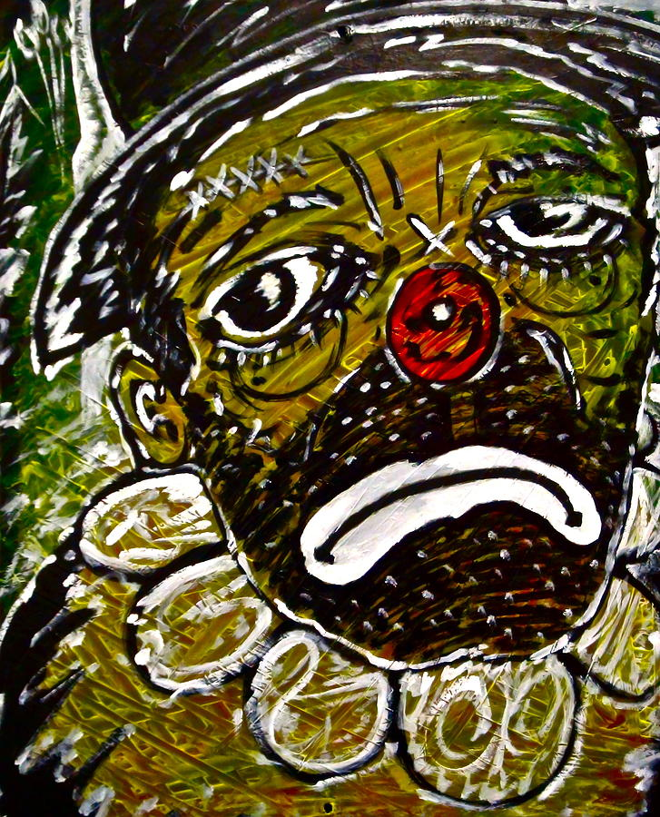 Clown Painting - Hard Luck by Travis Burns