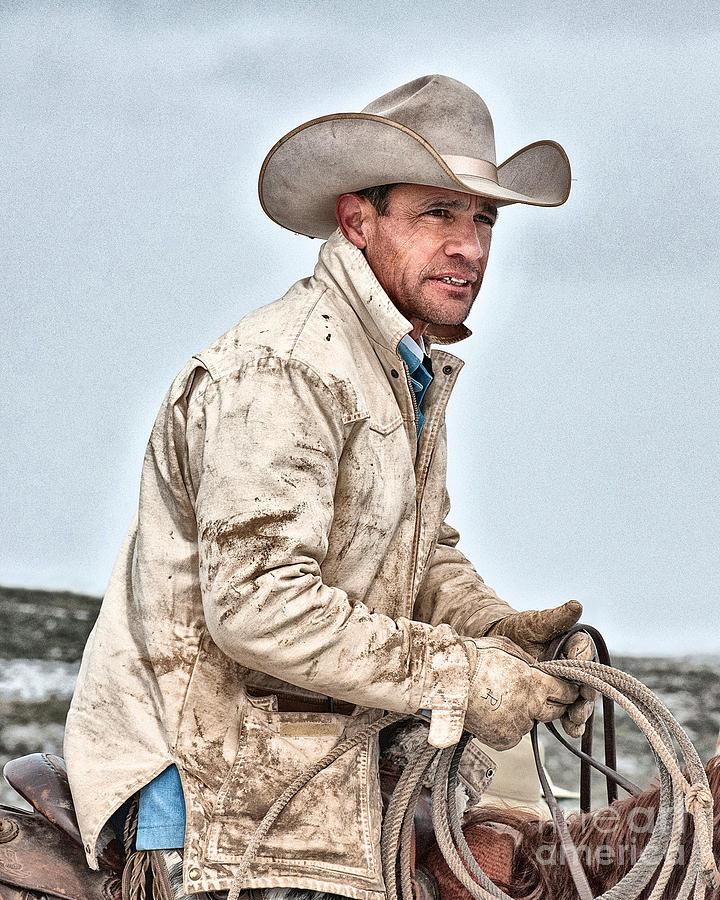 Cowboy Photograph - Hard Working Man by Heather Swan