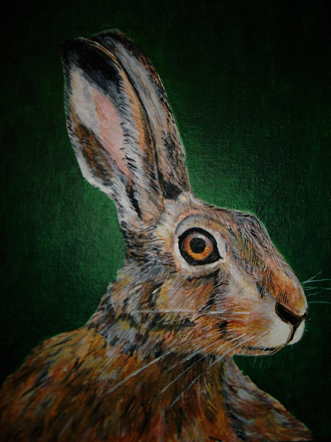 Hare Painting by Voica Radu