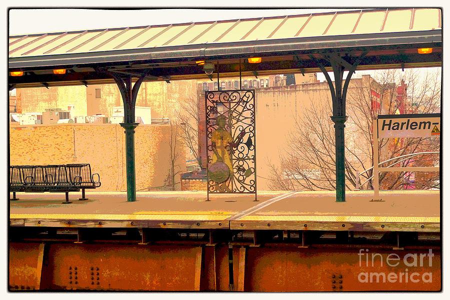 Railroad Digital Art - Harlem Scene 2 by Susan  Lipschutz