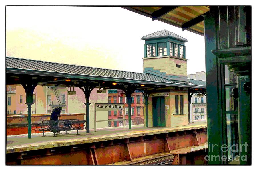 Susan Lipschutz.train Digital Art - Harlem Scene by Susan  Lipschutz