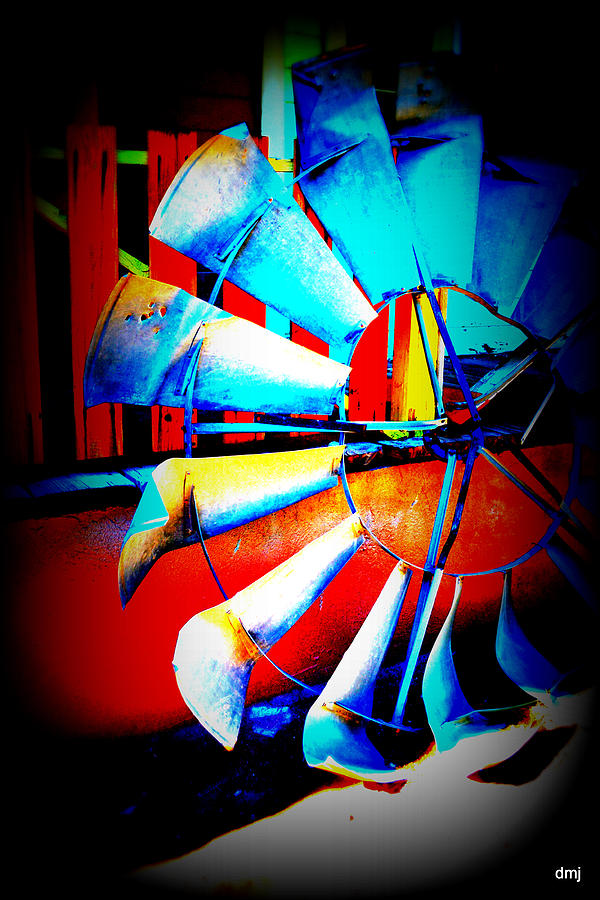 Wind Mill Photograph - Harlequin Wind  by Diane montana Jansson