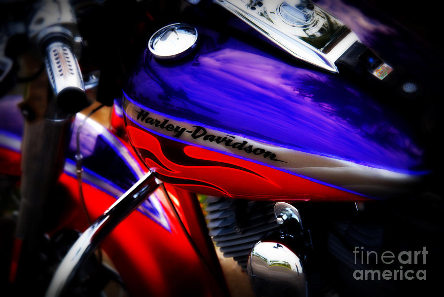 Harley Photograph - Harley Addiction by Susanne Van Hulst