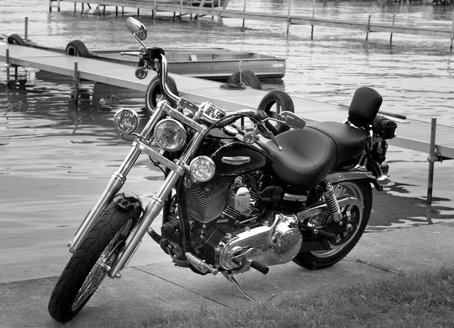 Harley Photograph - Harley Black And White by Dean Bennett