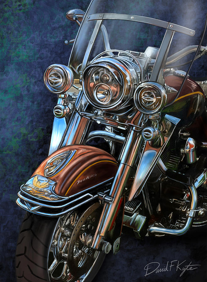 Harley Davidson Digital Art - Harley Davidson Ultra Classic by David Kyte