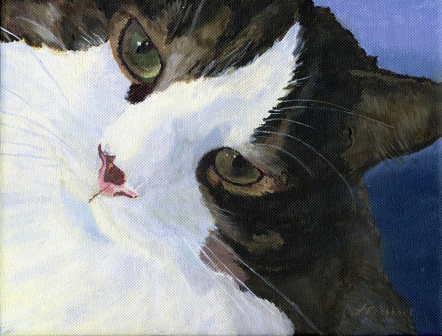Cat Painting - Harley by Lynne Reichhart