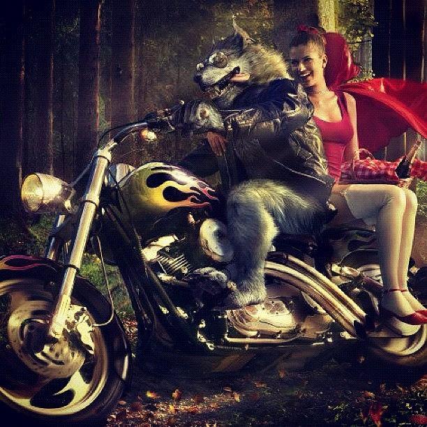 Harleydavidson Photograph - #harleydavidson #redridinghood #big by Katie Ball