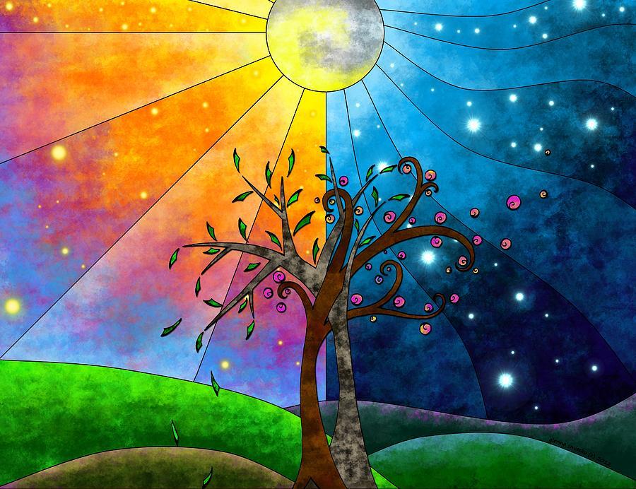 Tree Mixed Media - Harmony by Glenna Smiesko