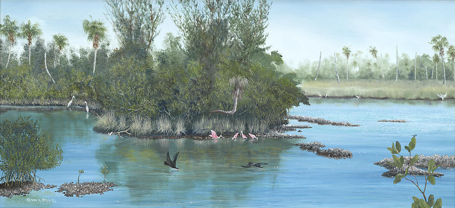 Egret Painting - Harmony by Kevin Brant