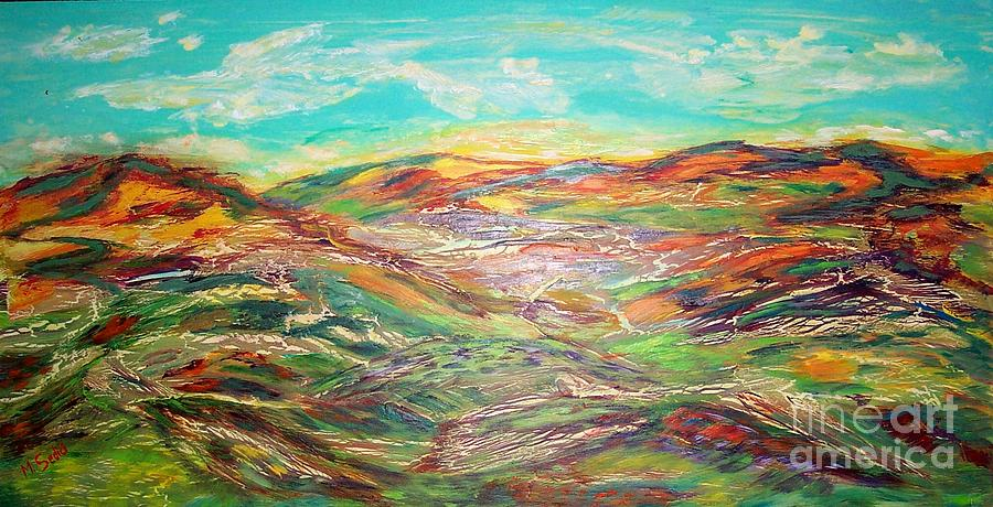 Landscape Painting - Harmony Of Colors  by Mary Sedici