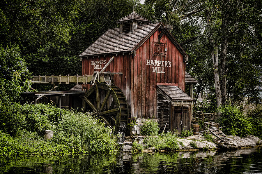 Mill Photograph - Harpers Mill by Heather Applegate