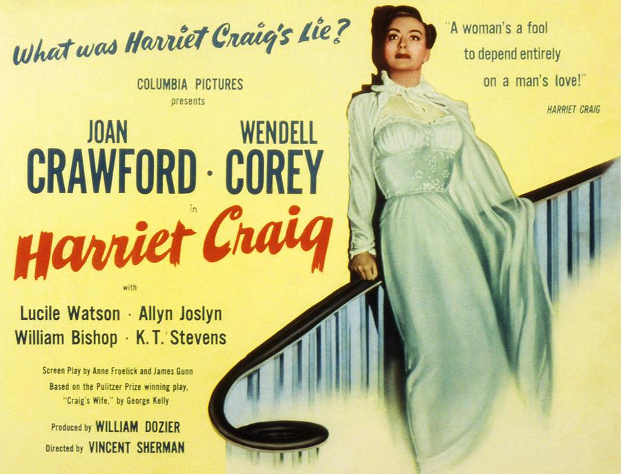 1950 Movies Photograph - Harriet Craig, Joan Crawford, 1950 by Everett