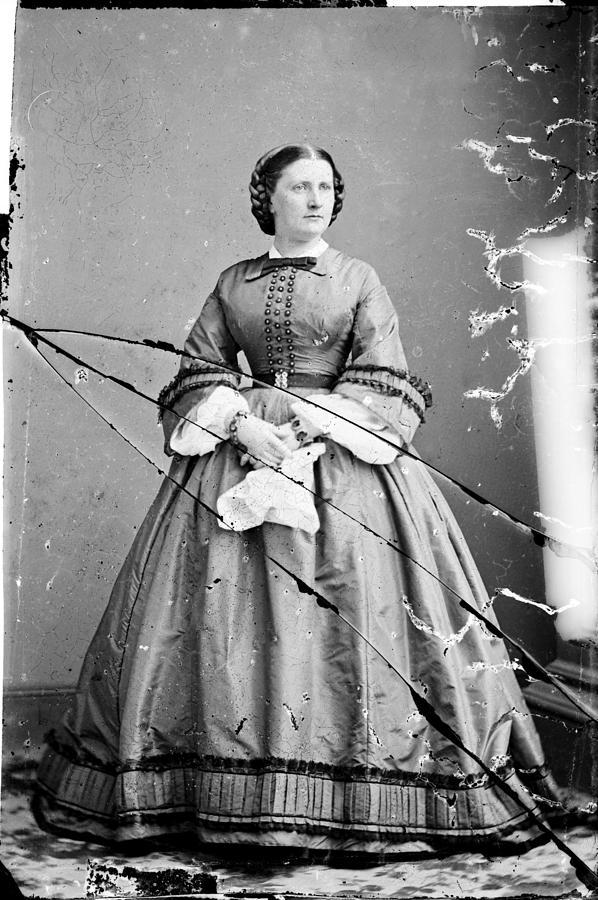 1850s Photograph - Harriet Lane, Niece Of  James Buchanan by Everett