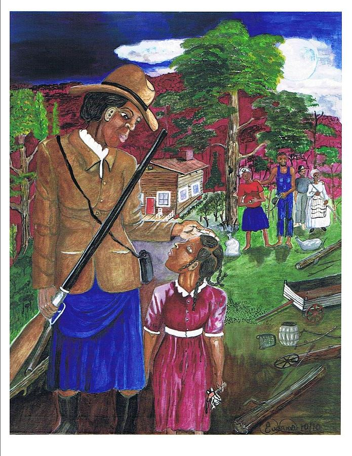 Underground Railroad Painting - Harriet Tubman-when Youre A Little Older by Everna Taylor