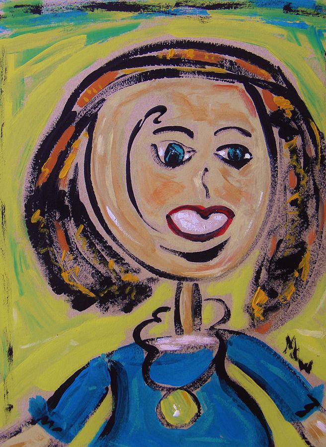 Acrylic Painting - Harris by Mary Carol Williams
