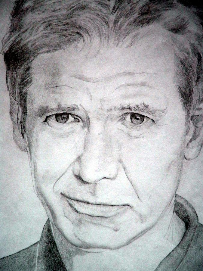 Harrison Ford Drawing - Harrison Ford - Medium by Robert Lance
