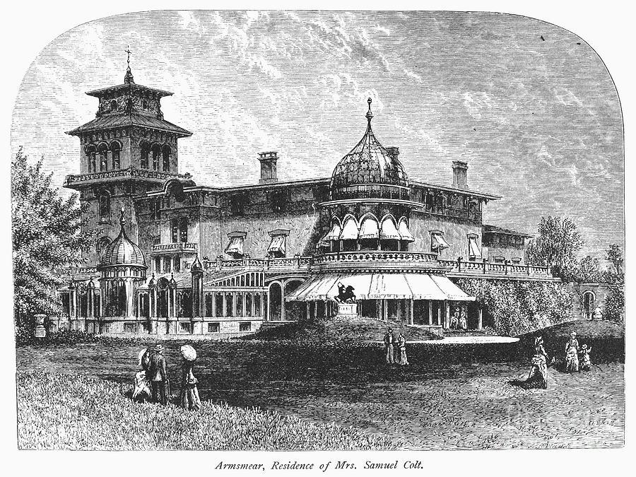 1876 Photograph - Hartford: Armsmear Mansion by Granger