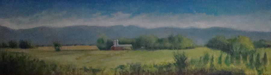 Barn Painting - Hartford Farm by Mark Haley
