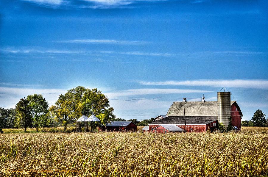 Farm Photograph - Harvest Time by Dan Crosby