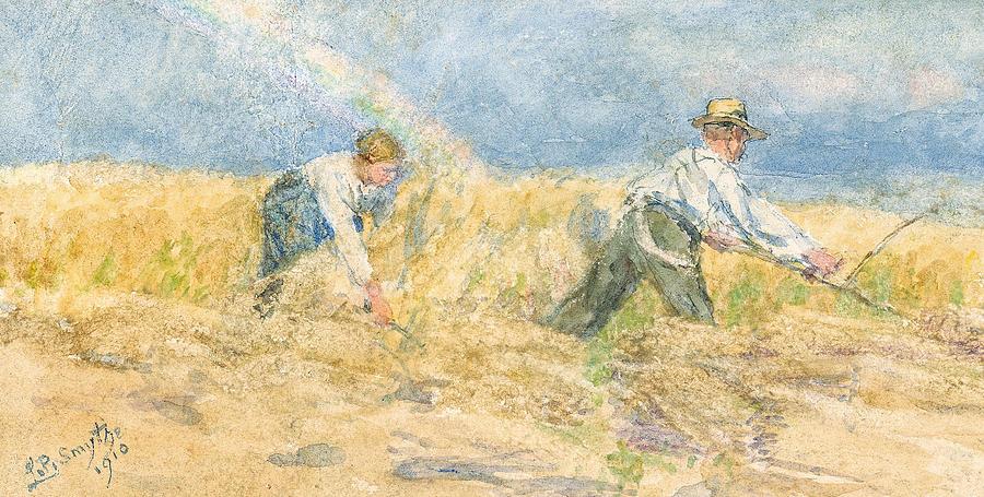 Harvest Painting - Harvester by LP Smythe