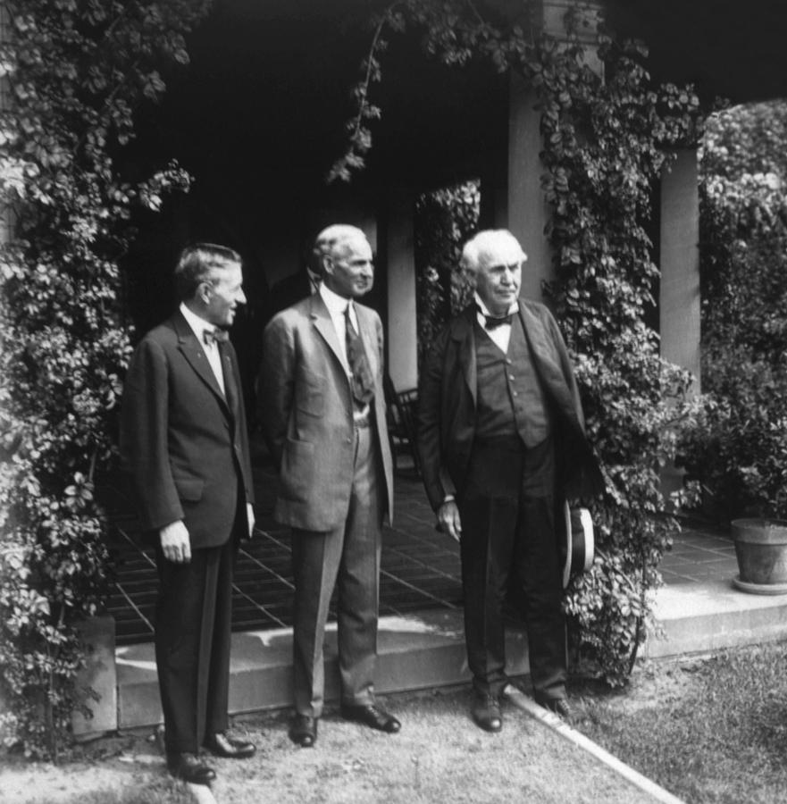 1920s candid photograph harvey firestone henry ford thomas a by everett