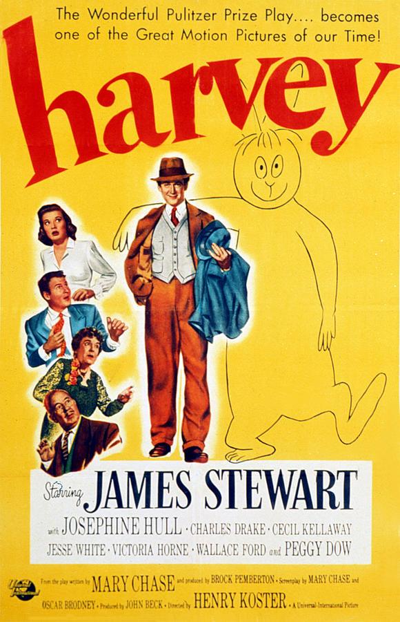 1950 Movies Photograph - Harvey, Victoria Horne, Jesse White by Everett