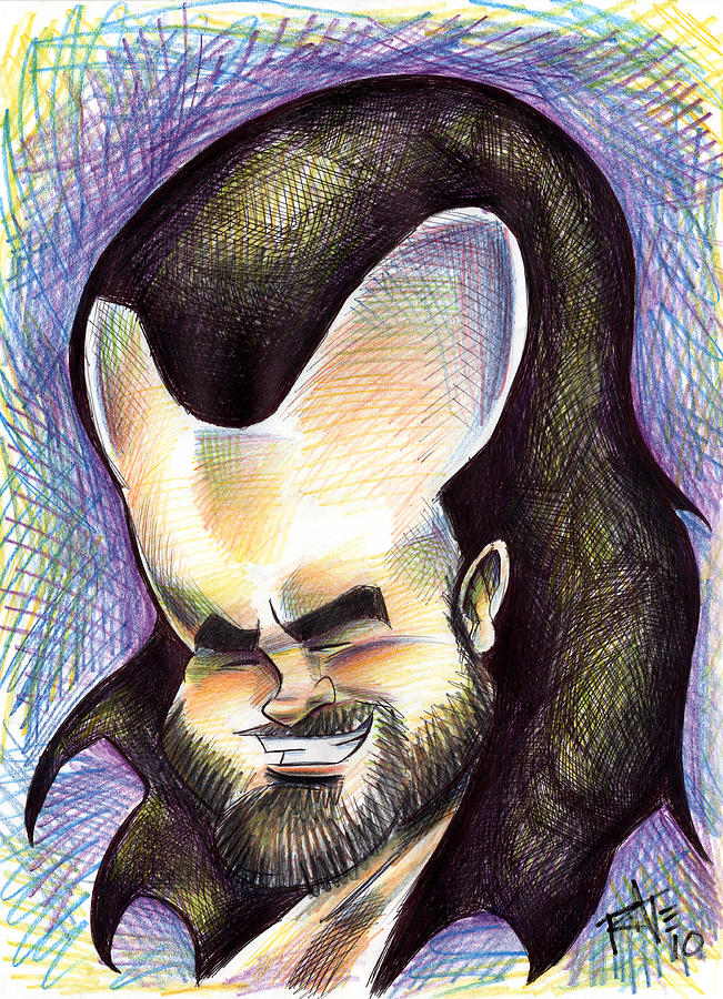 Caricature Drawing - Hasson The Artist by Big Mike Roate