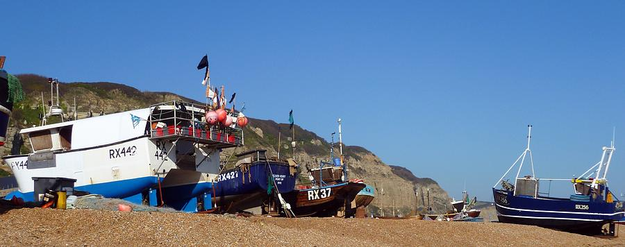 Hastings Digital Art - Hastings Fishing Fleet by Sharon Lisa Clarke