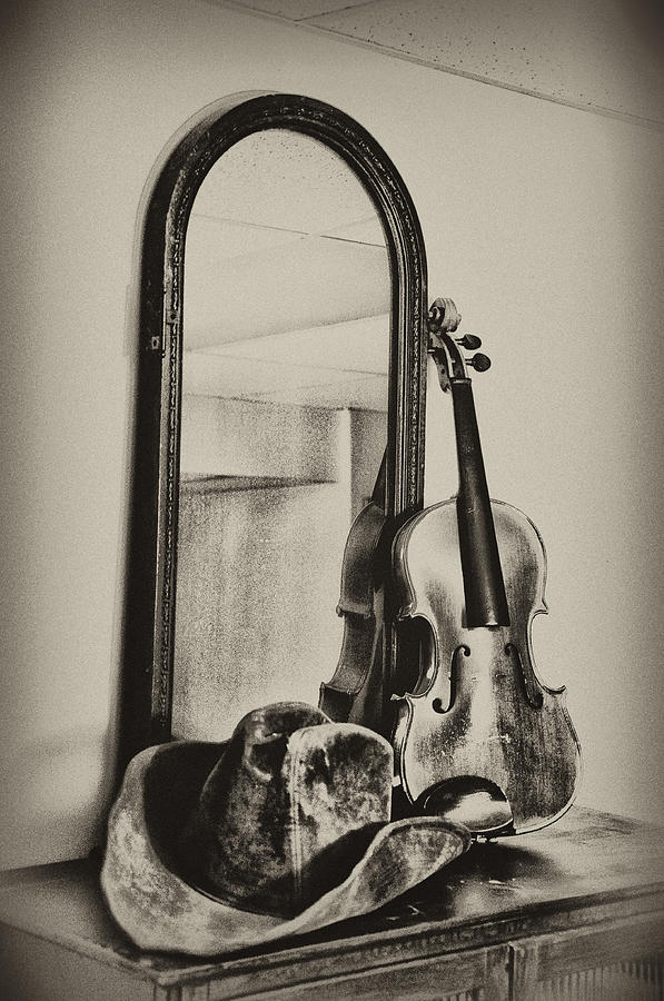 Cowboy Photograph - Hat And Fiddle by Bill Cannon