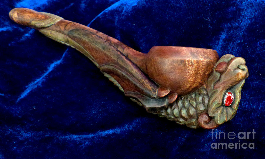 Carvings Photograph - Hatchling Dragon by Padre Art