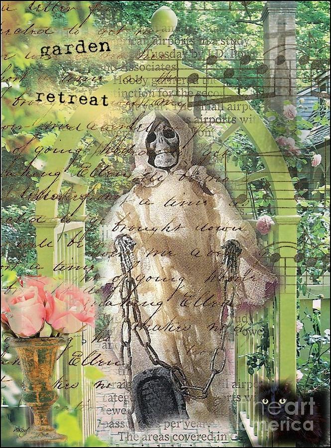 Haunted Garden Retreat Digital Art by Ruby Cross