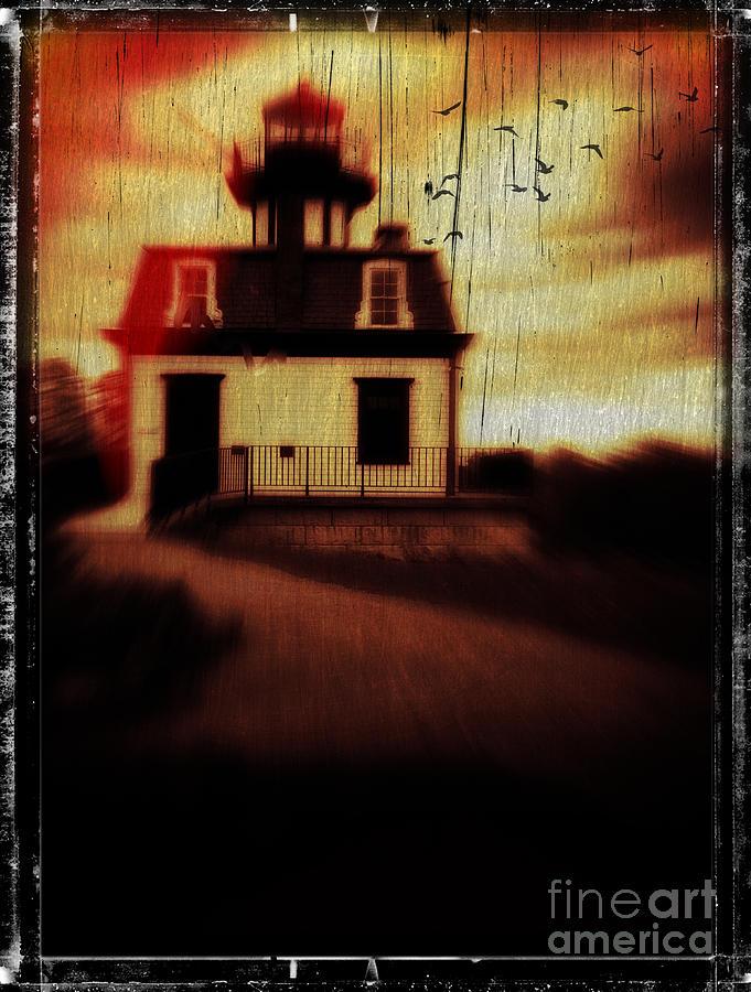 Halloween Photograph - Haunted Lighthouse by Edward Fielding