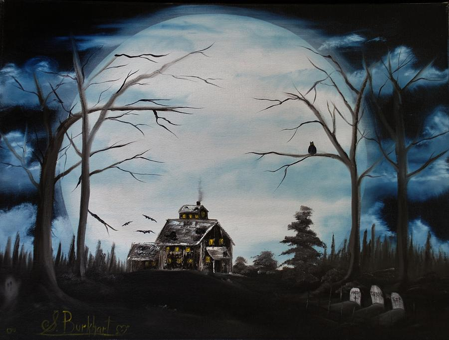 Haunted Mansion Painting - Haunted Mansion 2006 by Shawna Burkhart