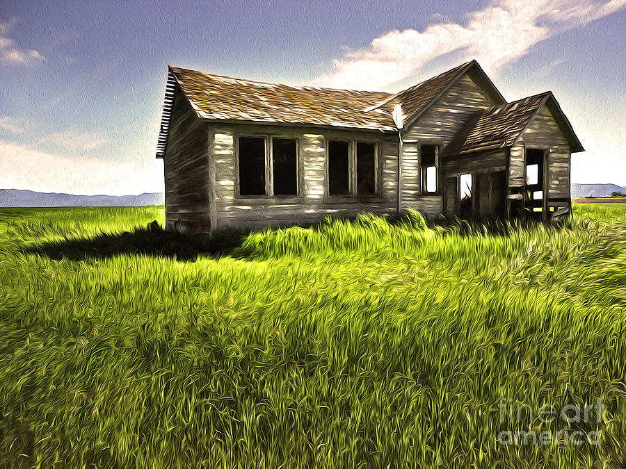 Idaho Painting - Haunted Shack In Idaho by Gregory Dyer